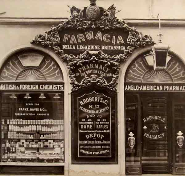 Risultato immagini per firenze farmacia inglese